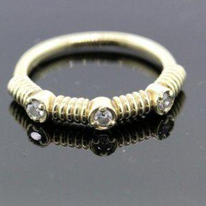 14k Yellow Gold & Diamond Ring for Women